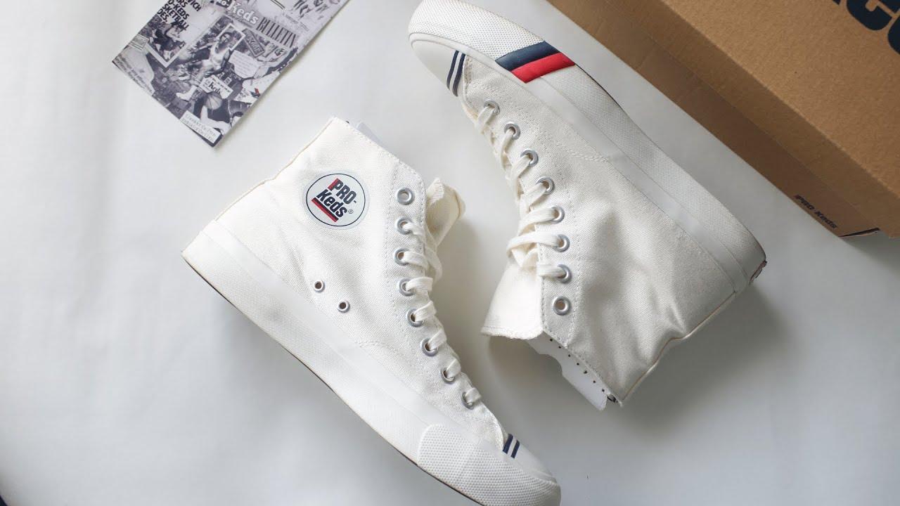 Pro-Keds Royal Hi WHITE On-Feet +