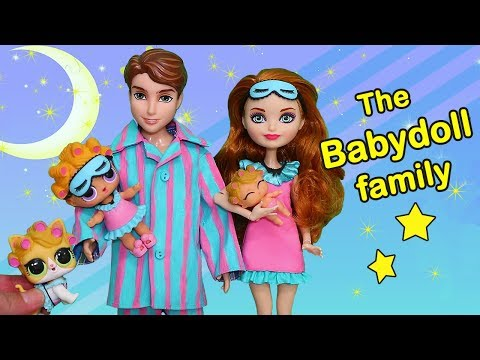 SWTAD LOL Families ! The Babydoll Family Bedtime Routine | Toys and Dolls Pretend Play for Kids
