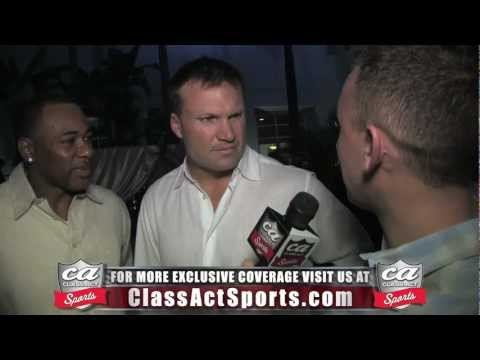 Zach Thomas Exclusive Interview w/ Class Act Sports at Jason Taylor Foundation event