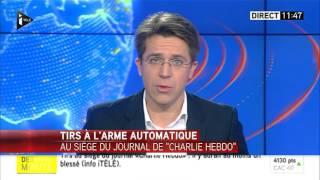1ère annonce des attentats de Charlie Hebdo le 7 janvier 2015 sur ITELE