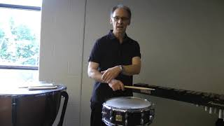 Teaching a Relaxed Snare Drum Stroke