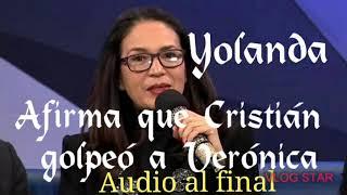 YOLANDA ANDRADE afirma CRISTIÁN golpeó a VERO, (audio al final)