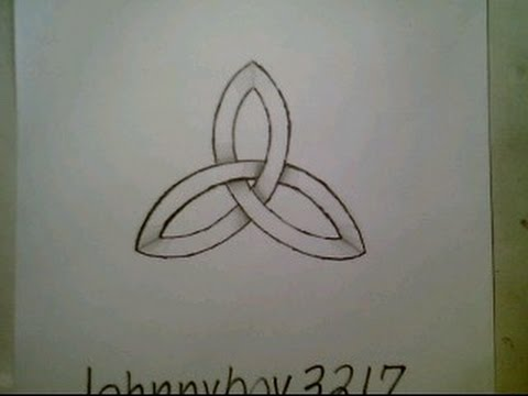 How To Draw Celtic Knot Ancient Symbol Impossible Shape Easy Step By