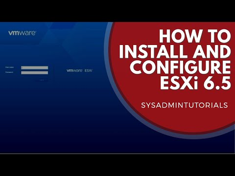 vSphere 6.5 - How to install and configure VMware ESXi 6.5