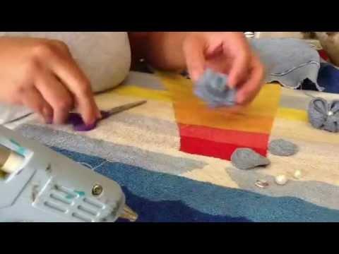 Como reciclar la tela cuando cortas jeans youtube - Como forrar muebles con tela ...