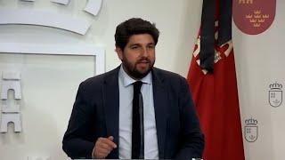 López Miras critica que Murcia volverá a ser la que menos reciba