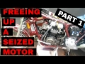 Freeing up a seized motor in a 1985 Honda VF1100 Sabre (V65) 1/2