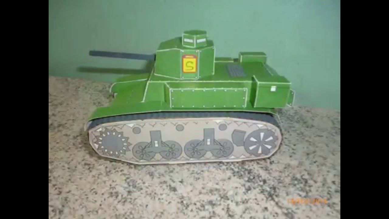 Papercraft Maquete em Papel do Tanque /Stuart Stuart Tank Paper Model