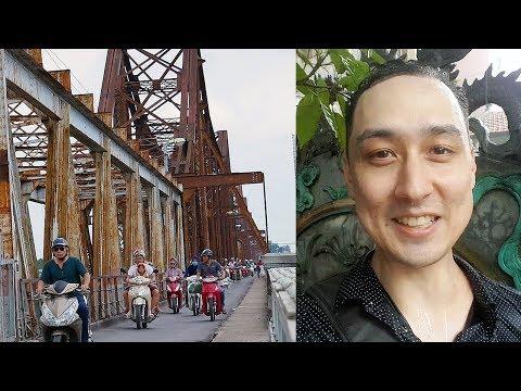 Exploring Hanoi's Long Biên Bridge and Getting Caught in a Rain Storm | LIFE IN VIETNAM