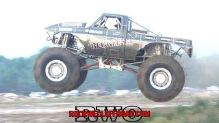 MEGA TRUCKS JUMPING AT MICHIGAN MUD JAM!