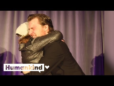 Emotional moment girl hugs donor for first time | Humankind