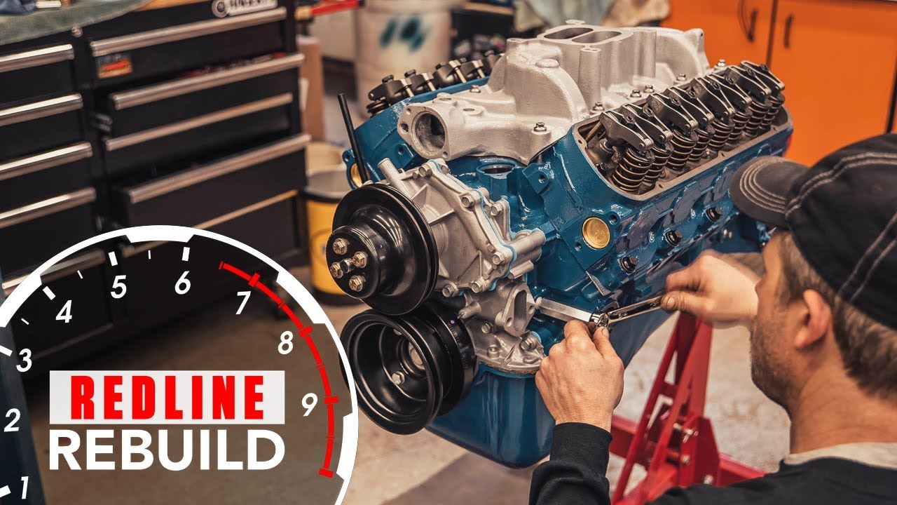 ford 289 v 8 engine time lapse rebuild fairlane mustang gt350 redline rebuild s2e1 [ 1280 x 720 Pixel ]
