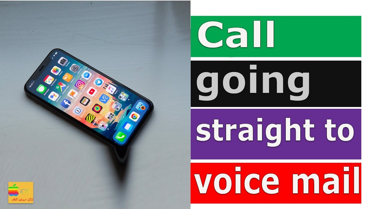 Fix iPhone call going straight to voice mail