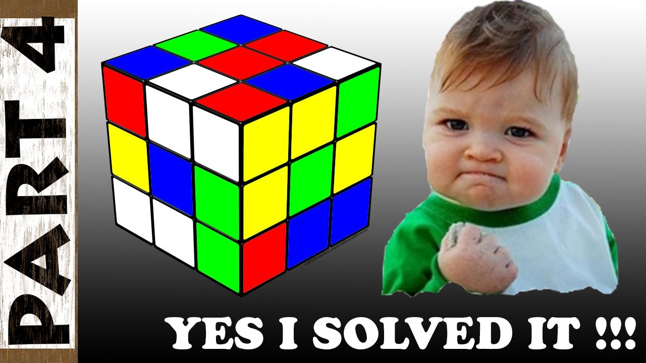 How to Solve a 3x3x3 Rubik's Cube Solution Step by Step for Beginners - Part 4