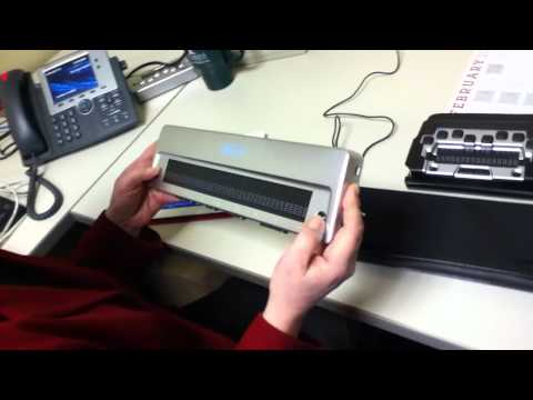 Refreshable Braille Display and the iPad