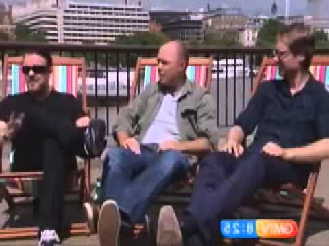 Ricky Gervais, Karl Pilkington & Stephen Merchant on GMTV having a hilarious chat
