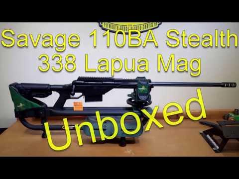 Savage 110BA STEALTH 338 Lapua Magnum unboxing