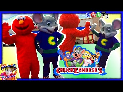Elmo Goes to CHUCK E CHEESES for Chucktober! Kids Games Indoor Play Area Family Fun