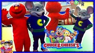 Elmo Goes to CHUCK E CHEESES for Chucktober! Kids Games Indoor Play Area Family Fun