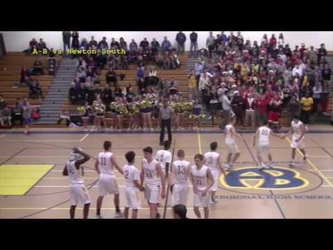 Acton Boxborough Varsity Boys Basketball vs Newton South 12 16 16