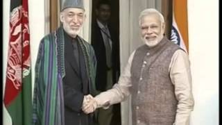 PM Narendra Modi meets President of Afghanistan, Hamid Karzai