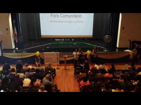 Northern Manhattan is Not for Sale Community Forum - June 16, 2016