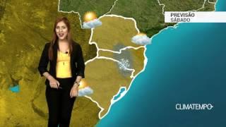 Previsão Sul - Áreas de geada diminuem