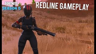 Fortnite Battle Royale Season 5 NEW Redline Skin Gameplay!