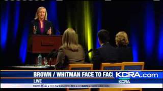 Brown-Whitman Debate: Dysfunction, Budget