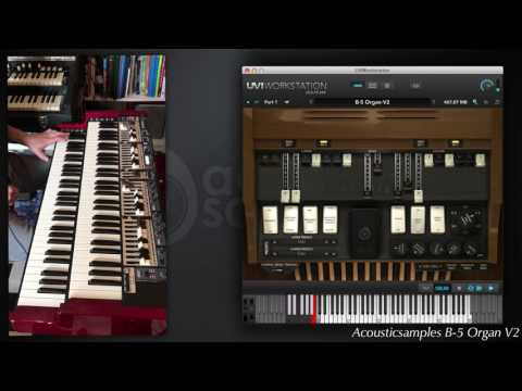 B-5 Organ V2 vs Real Organ and leslie 122 by Acousticsamples