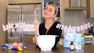 BAKE WITH ME! | Gooey Oreo Brownies