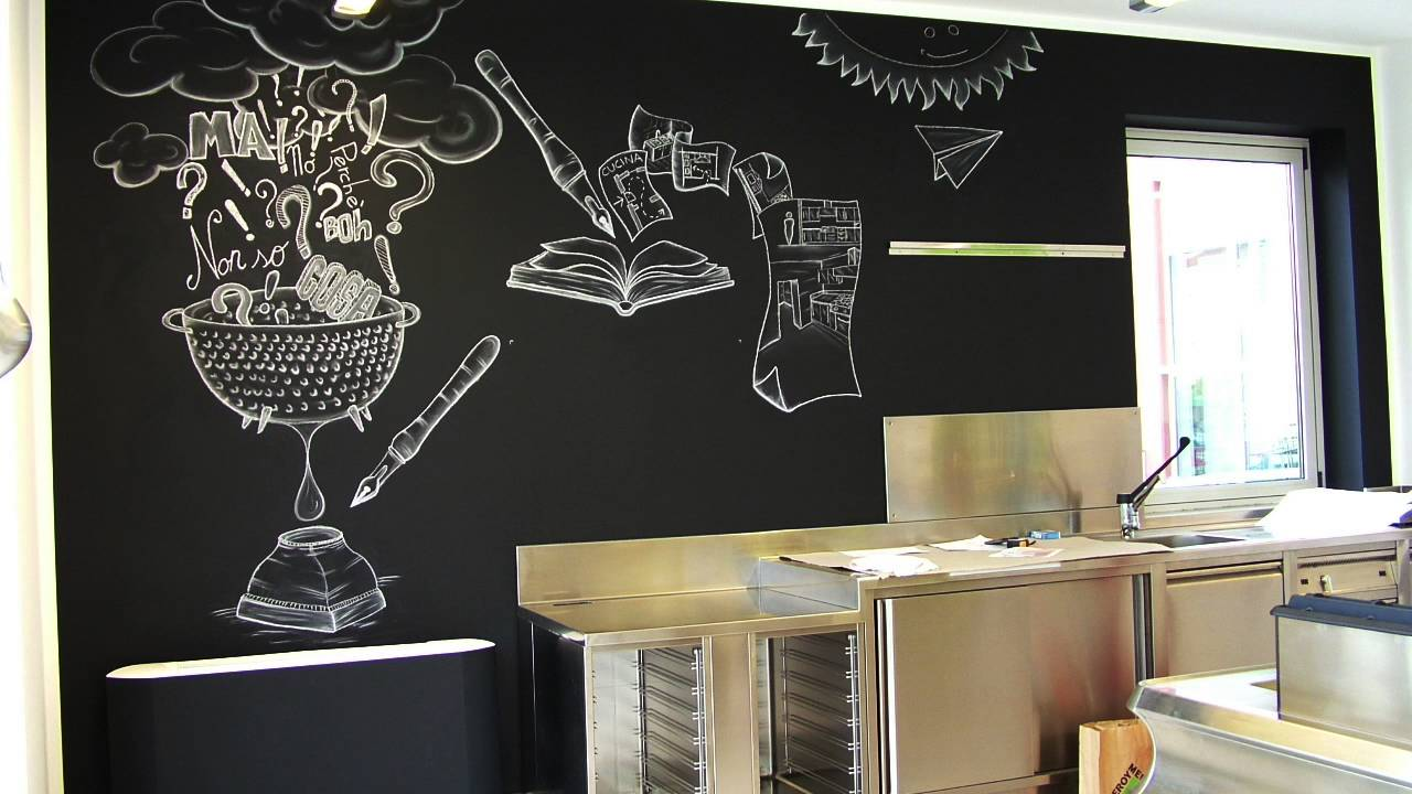 MY Work 02 - Chalk lettering - Lavagna e gesso cucina - YouTube