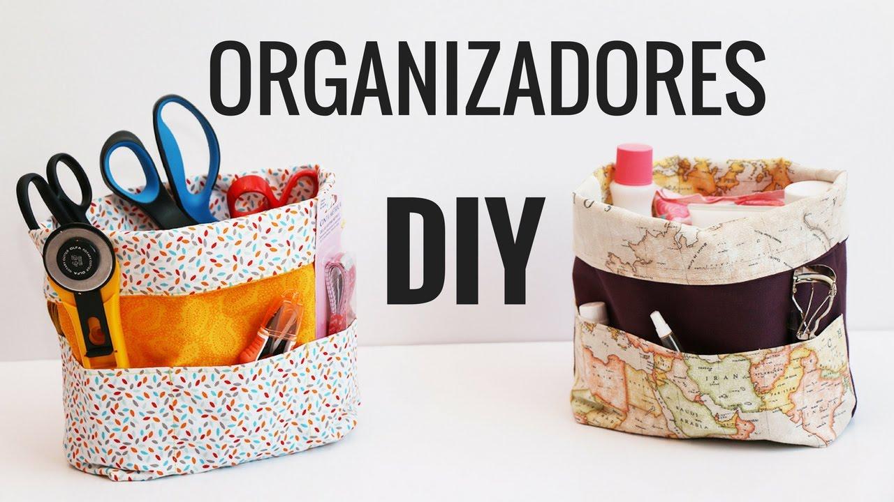 DIY ORGANIZADORES | Cómo hacer bolsas de tela organizadoras. - YouTube