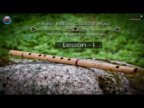 Basic Indian Classical Music Flute Lesson ( Bansuri Tutorial