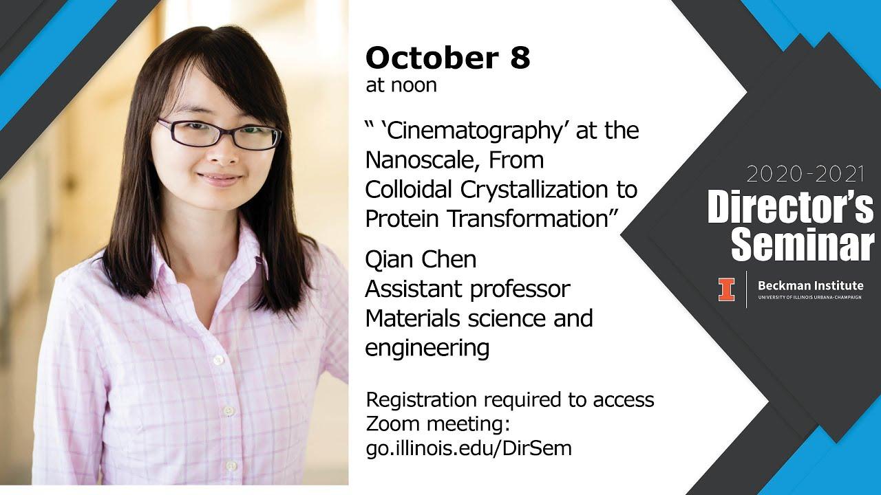 A screenshot from Beckman Director's Seminar: Qian Chen