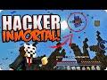 ¡¡EL HACKER INMORTAL WTF!! INCREÍBLE HACK   MINECRAFT EGGWARS