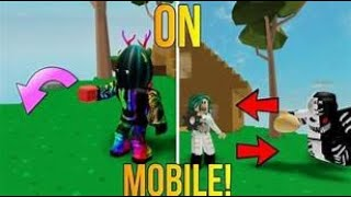How to drop things in roblox on mobile
