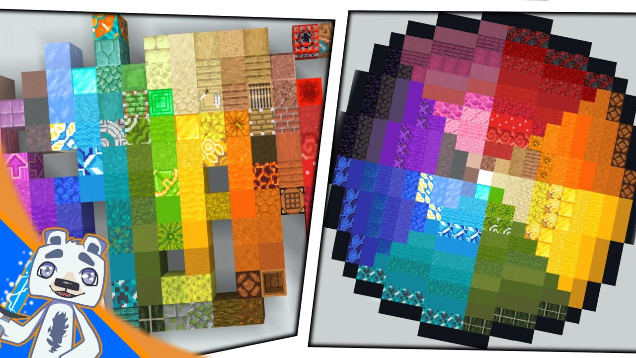 1 16 Minecraft Color Palettes Youtube