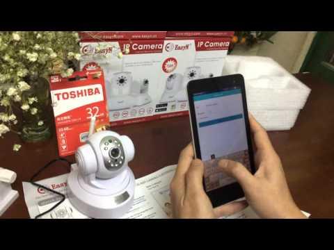 EasyN camera IP robot, camera ip quay quét giá rẻ demo camera easyn 186V3