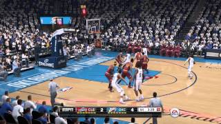 NBA Live 15 Gameplay PS4 HD Cavaliers vs. Thunder NBA Finals 1st Quarter