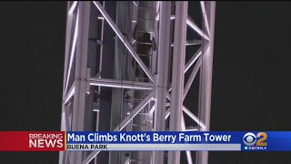 Man Who Climbed 300 Feet Up Supreme Scream At Knott's Berry Farm Detained