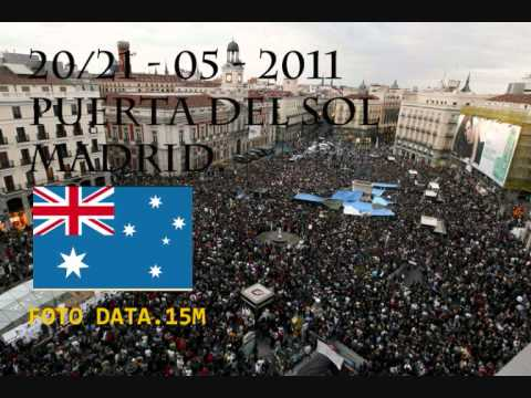 Australian Revolution.Interview with an Australian tourist. Spanish Revolution. Puerta del Sol.wmv