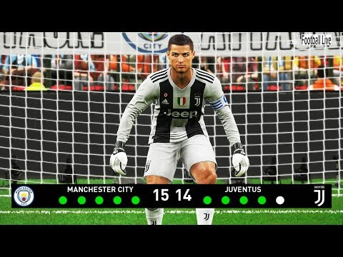 PES 2019 | goalkeeper AGUERO vs goalkeeper RONALDO | Penalty Shootout | Manchester City vs Juventus