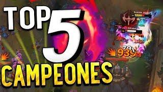 TOP 5 Campeones que tienes que jugar con COSECHA OSCURA