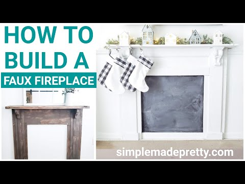 How To Build A Faux Fireplace Simple Made Pretty 2020