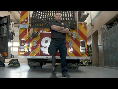 Indiana Firefighter Returns to the Job After Losing Leg in Accident