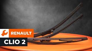 Návod: Jak vyměnit lišty předních stěračů na RENAULT CLIO 2