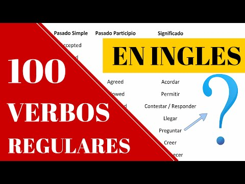 30 verbos en pasado simple en ingles y español