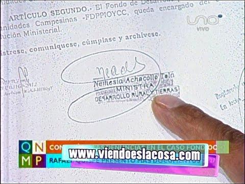 FONDIOC: DIPUTADO QUISPE PRESENTA DOCUMENTOS DONDE FIGURA LA FIRMA DE EX MINISTRA NEMESIA ACHACOLLO