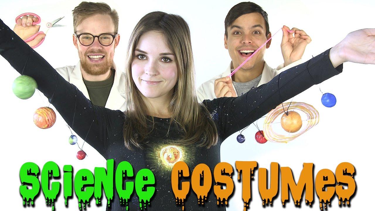 5 Last Minute Diy Science Halloween Costumes Youtube